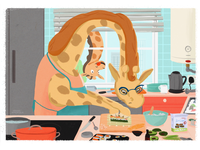 Animal kitchen: Sushi chef