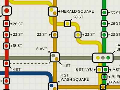 Subway Map map illustration nyc