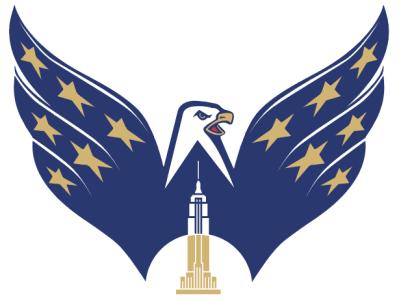 Screaming Weagle eagle capitals vector logo illustration