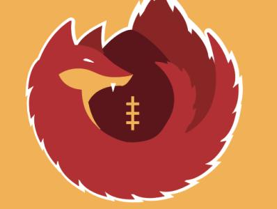 Washington Redwolves branding illustration logo