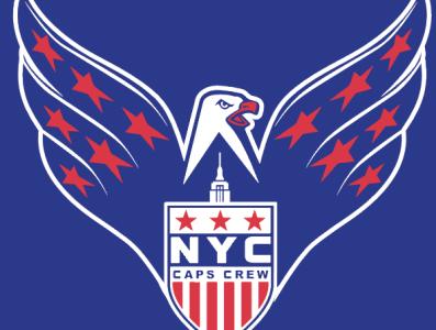 NYC Caps Crew Screagle vector illustration eagle capitals logo