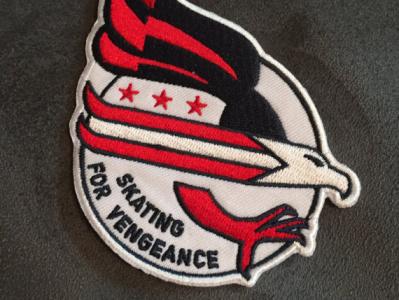 Skating for Vengeance Patch vector eagle capitals illustration logo