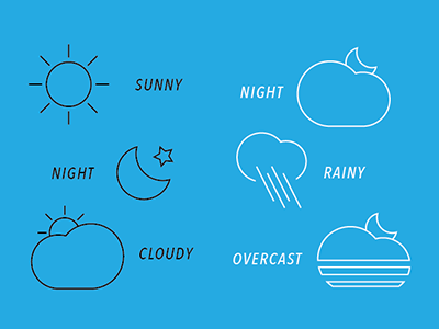 Weather icon vector lines