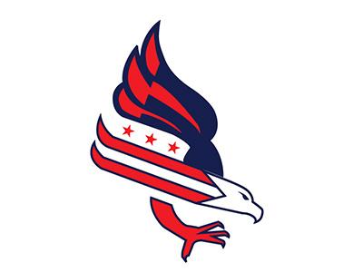 Skating for Venegance eagle illustration capitals logo