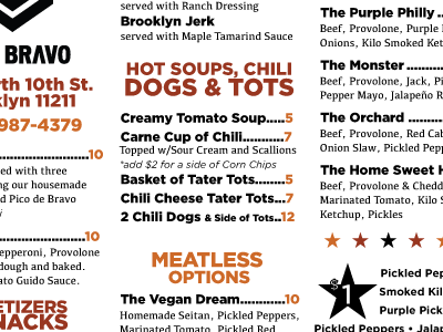 Color/Type Exploration for Menu Design design menu layout