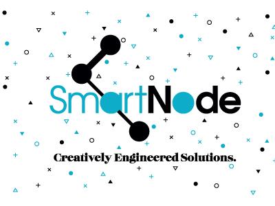 SmartNode shapes logo business card brand