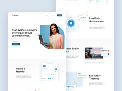 Kirus Marketing Website, UI and Animations
