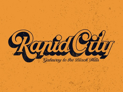 Rapid City T-shirt Design merchandise design merch design logotype custom typography wordmark goodtype brand identity customtype tshirtdesign handlettering lettering blackhills