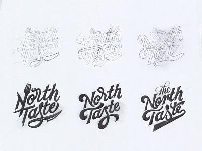 North Taste Food Blog Logo Concepts brand identity restaurant logo wordmark logo customtype hand lettering custom lettering food logo logo inspiration logo sketches lettering logo food blog logo sketch logo concepts