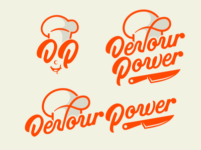 Devour Power Responsive Logo affordable logo logotype designer brand identity food blog devour power logo inspiration logotype lettering logo suite responsive logo responsive branding