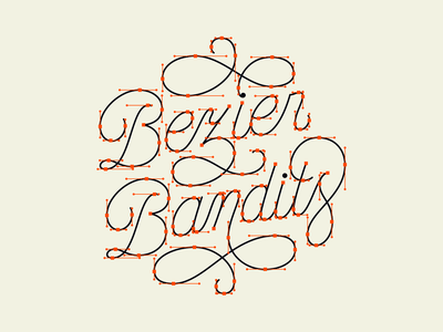 Bezier Bandits Lettering anchor points calligraphy logo design typography custom type lettering goodtype monoline hand lettering beziercurves bezier