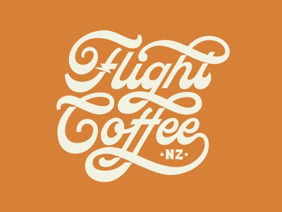 Flight Coffee Logo coffee packaging coffee shop hospitality branding flight coffee logotype hand lettering logo hand lettering coffee branding coffee logo