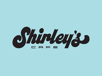 Shirley's Cafe Logo 60s jacktype jack gudgin hand lettering branding logodesigner logotypes typespire typoespot brand identity logo inspiration goodtype lettering design cafe logo logotype logodesign handlettering lettering