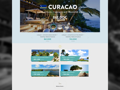 Travel Website css3 html media queries responsive drupal travel frontpage offers teaser grid layout design