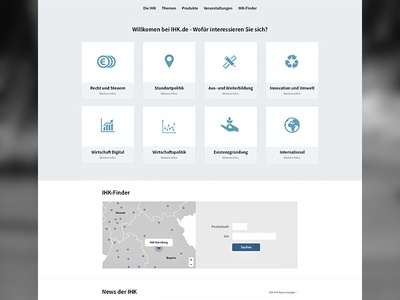 Frontpage media-queries grid css3 responsive html retina news finder location icon card position