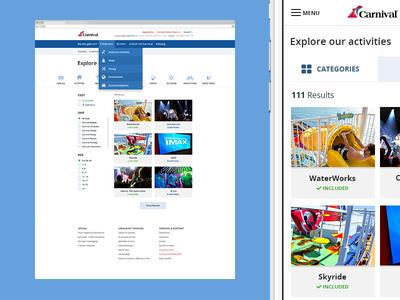 Explore ui carnival cruise teaser application fluid grid website html css3 media-queries responsive