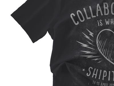 Event shirt atlassian print graphics paint illustration apparel design shirt