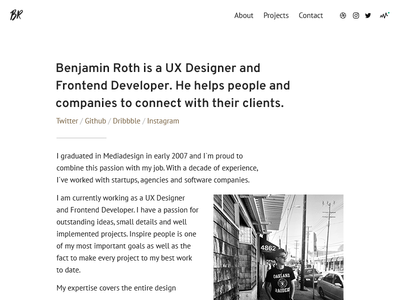 New portfolio 2017 designer sass webdesign development js responsive design visual interaction ux ui portfolio