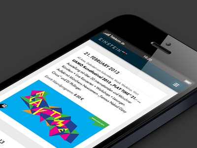 Einstein Kultur on iPhone responsive css3 retina media queries events