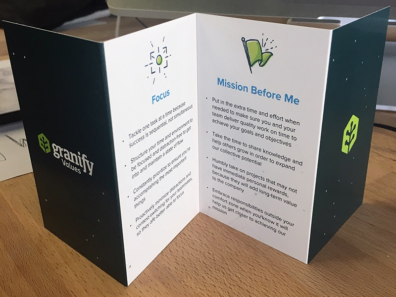 Granify Valules Booklet