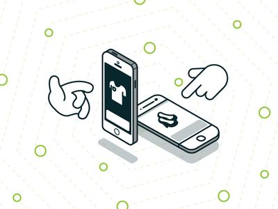 Mobile E-Commerce Illustration