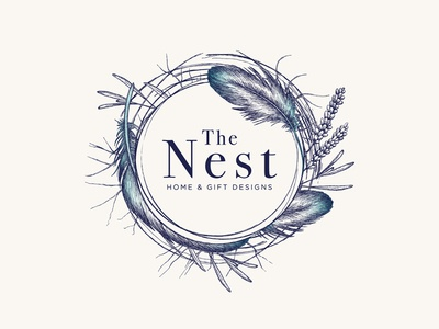 Logo design for the nest home gifts designs by yokaona for Nest home design