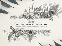 Illustration for Premium Wine Label of Corte Pavone