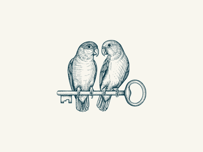 The Nestled Inn - illustration design artisan animal bird nature rustic logo vintage illustration hand drawn