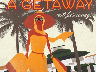 Coconut Grove Travel Poster - Shopping