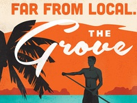 Coconut Grove Travel Poster - Paddleboard