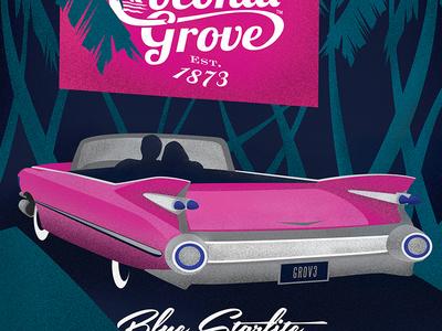 Coconut Grove Poster - Blue Starlite Drive-In