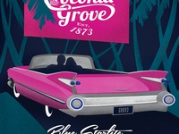 Coconut Grove Poster - Blue Starlite Drive-In