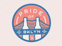 Pride of Brooklyn 2016 Badge