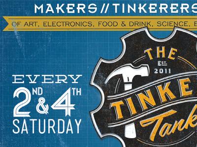 Tinker Tank Miami - Flyer design type collateral flyer postcard logo