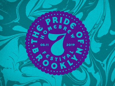 Pride of Brooklyn 2019 Cup Graphic marbled brooklyn beerfest emblem seal badge typography type branding designer branding design branding brand mark lockup logo