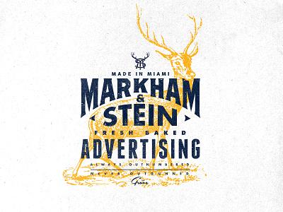 Markham & Stein - Stag logo outdoors vintage design stag deer vector logodesign typography logotype illustration lockup branding mark logo