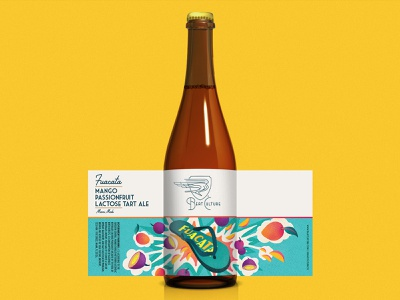 "Beat Culture ""Fuacata"" Beer Bottle Packaging latinx design branding illustration beer chancleta sandal tropical miami beer art beer label label package design packagedesign packaging"