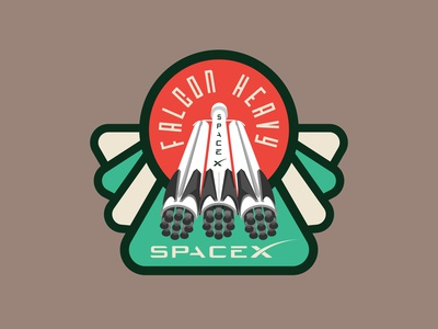 Space Mission Patch: Falcon Heavy