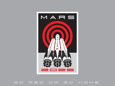 Space Mission Patch: Mars 2025