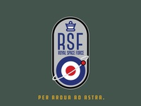 Space Mission Patch: Royal Space Force badge logo branding british designs badge space design nasa spacex
