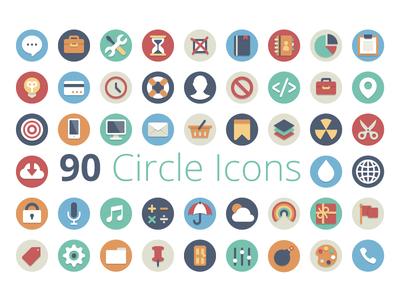 Free Circle Icon Set.
