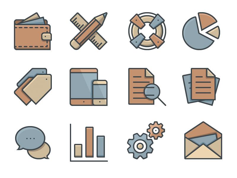 36 Free Business Icons icons freebie free business ecommerce illustration