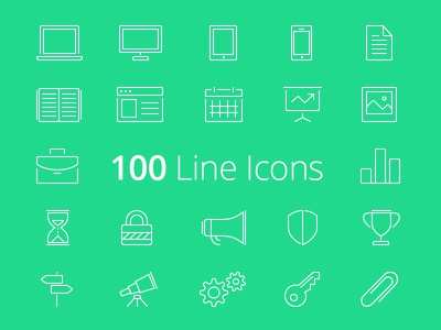 100 FREE Line Icons icons line ios7 business free freebie vector glyph stroke set pack