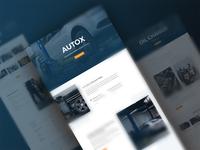 Auto Shop Website Template - Sneak Peak