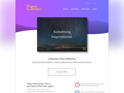 Quick website homepage mockup