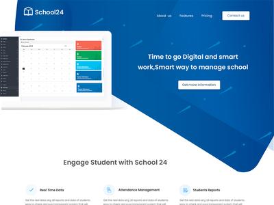 School landing page