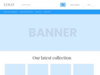 Shoping wireframe with navigation