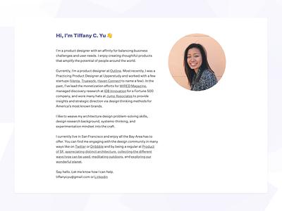 Personal site 2019 minimal typeface portfolio interface web product design