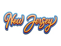 New Jersey Lettering