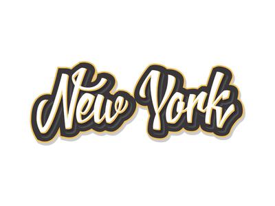 New York - Lettering